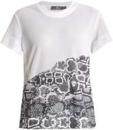 adidas by Stella McCartney Run snake-print mesh performance T-shirt