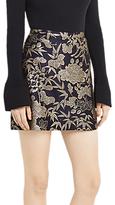 Oasis Kimono Jacquard Mini Skirt, Multi/Blue
