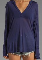 LAmade Long Sleeve Mandarin Collar Blouse