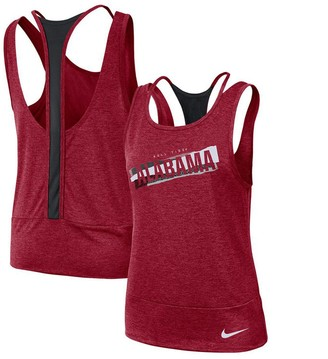 Nike Women's Crimson/Black Alabama Crimson Tide Loose Racerback Performance Tank Top