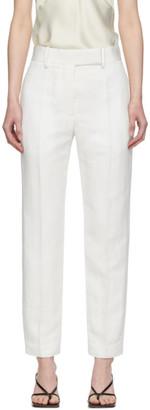 Haider Ackermann White Linen Classic Trousers