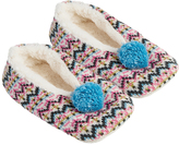 Accessorize Multi Fairisle Slipper Footlets