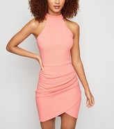 New Look AX Paris Halterneck Wrap Bodycon Dress