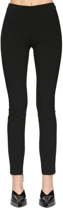 Thierry Mugler High Waist Tech Scuba Straight Pants