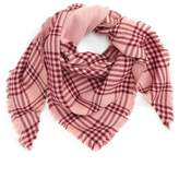 David & Young Metallic Plaid Triangle Scarf