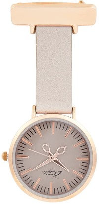 Bermuda Watch Company Annie Apple Rose Gold/Grey Leather Nurse Fob Watch