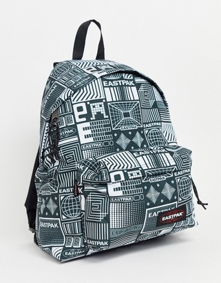 Eastpak Padded Pak'R backpack with all over logo in blue 24l-Navy