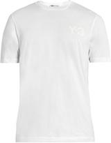 Y-3 Logo-appliqué cotton T-shirt