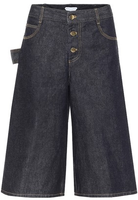 Bottega Veneta Wide-leg denim shorts