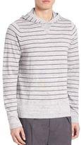 Vince Jasper Striped Hooded Sweater