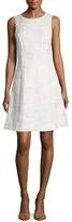 Oscar de la Renta Tweed A-Line Dress
