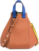 Loewe Hammock Colorblock Stars Satchel Bag, Tan