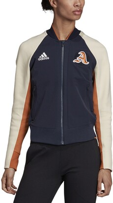 adidas Zip-Up Track Top with Pockets and Patch