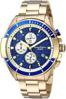 Tommy Bahama Men's Casual Stainless Steel Case and Bracelet Navy Blue Chronograph Watch (Model:TB00011-04)