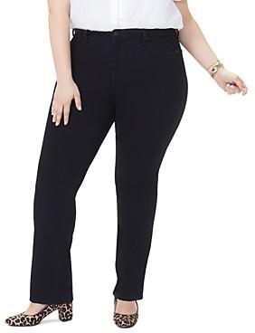 NYDJ Plus Barbara Bootcut Jeans in Black