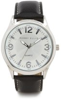 Perry Ellis Black Leather Band Watch