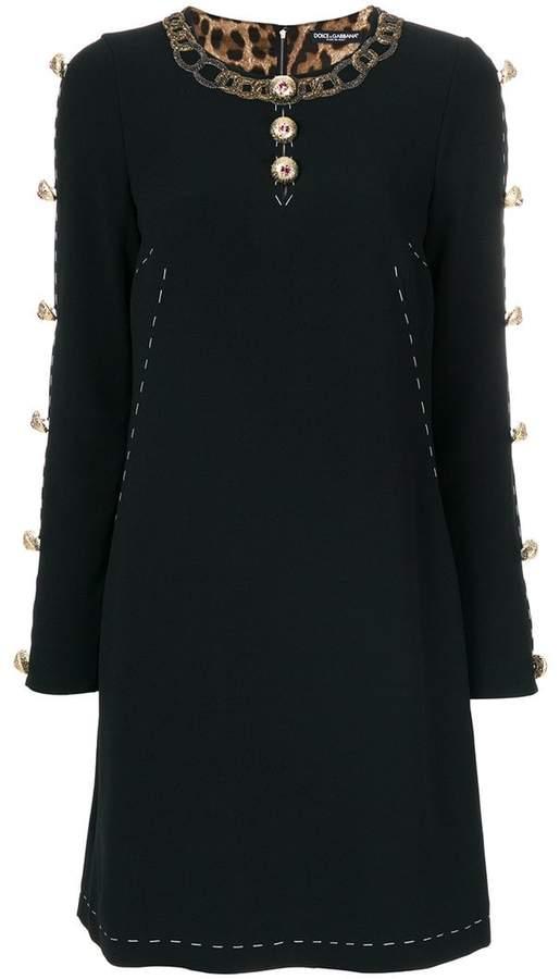 Dolce & Gabbana buttoned A-line dress