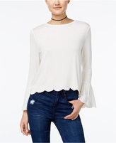 One Hart Juniors' Embroidered Bell-Sleeve Top, Only at Macy's