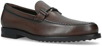 J.P Tods Leather Double T Loafers