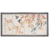 Oriental Furniture Fine Japanese Style Furniture and Art, 36 by 72-Inch Shing Huo Plum Blossoms Oriental Wall Painting