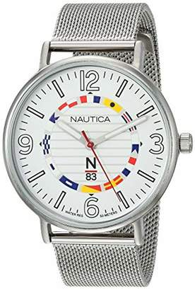Nautica N83 Men's NAPWGS905 Wave Garden Stainless Steel Mesh Band Watch