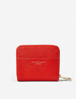 Aspinal of London Mini Shield Continental leather purse