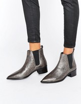Office Agave Pewter Leather Chelsea Boots