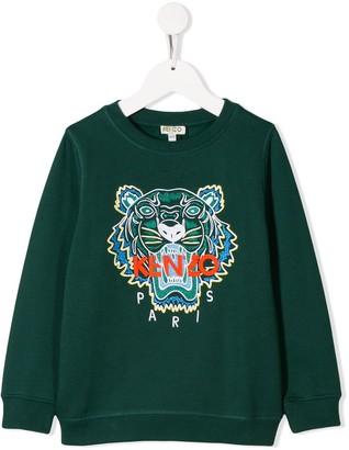 Kenzo Kids Tiger motif sweatshirt