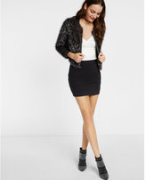 Express high waisted banded mini skirt