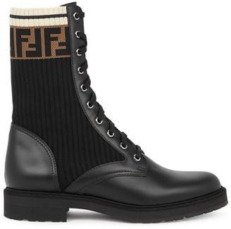 Fendi Rockoko 40 black leather boots