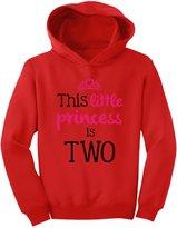 TeeStars - This Little Princess Is Two 2 Years Old Girl Birthday Toddler Hoodie