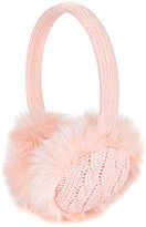 Copper Key Girls Cable-Knit Faux-Fur Earmuffs