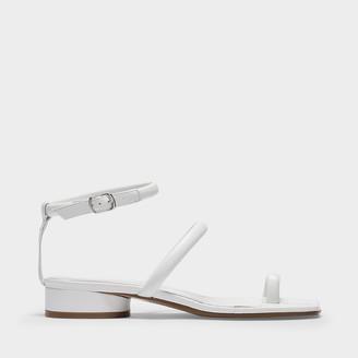 Maison Margiela Flat Sandals In White Leather