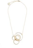 SABA Elise Drop Circle Necklace