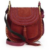 Chloé Hudson Small Studded & Braided Suede Shoulder Bag