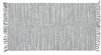 """French Connection Yoshi Hand-Knotted Cotton Gray Area Rug Rug Size: Rectangle 2'4"""" x 4'"""