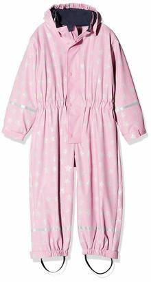 Playshoes Girl's Rain Jacket Rainoverall Rainsuit Stars with Fleece lining