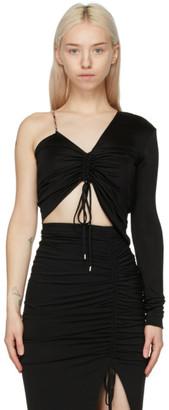 ATTICO Black Gathered Single Sleeve Top