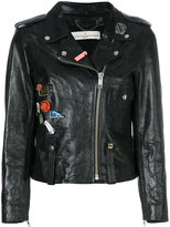 Golden Goose Deluxe Brand Mini Chiodo jacket - women - Cotton/Leather/Viscose - L