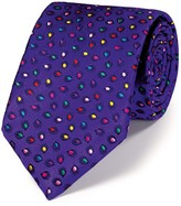 Charles Tyrwhitt Purple silk luxury multi spot floral tie