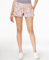 Roxy Juniors' Printed Drawstring Beach Shorts