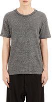 Nlst Men's Exposed-Seam Mélange T-Shirt-Dark Grey Size Xs