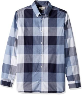 Calvin Klein Jeans Men's Tall Long Sleeve Button Down Shirt Buffalo Grindle Check