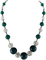 One Kings Lane Vintage Peking Glass & Faceted Crystal Necklace