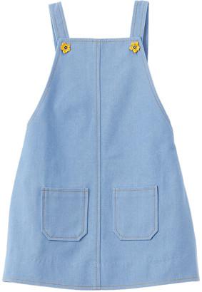 Oscar de la Renta Denim Overall Dress