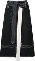 Derek Lam belted contrast seam skirt - women - Viscose - 36