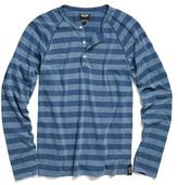 Todd Snyder Stripe Weathered Henley in Navy