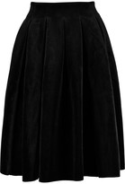 Maje Pleated velvet skirt