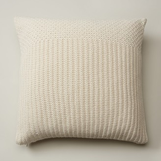 """Oui Recycled Knit Pillow Cover Ivory 20"""" X 20"""""""