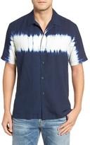 Tommy Bahama Men's Shibori Nights Standard Fit Silk Camp Shirt